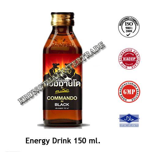 Commando Energy Drink in Black