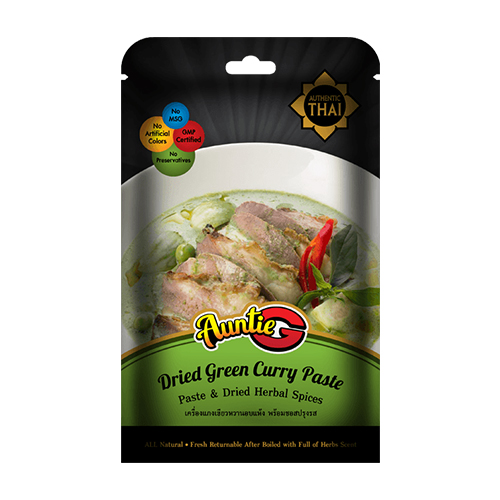Herbal Spices Dried Green Curry Paste