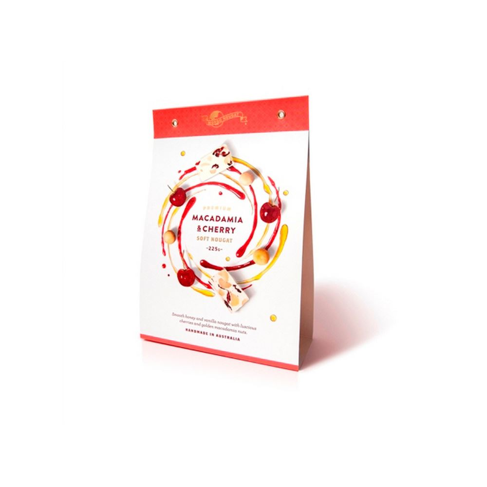 Macadamia & Cherry Soft Nougat - 225g