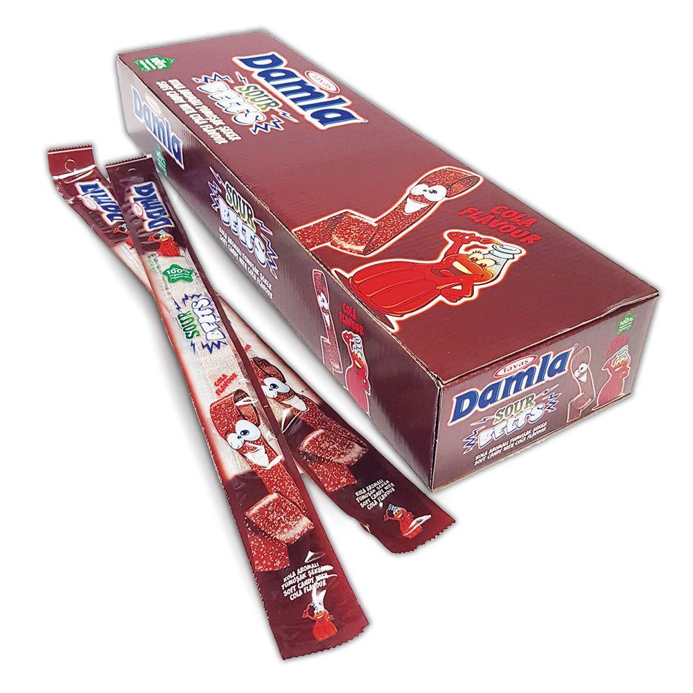 DAMLA Sour Belts (COLA) Carton Box 15g - (LICORICE)