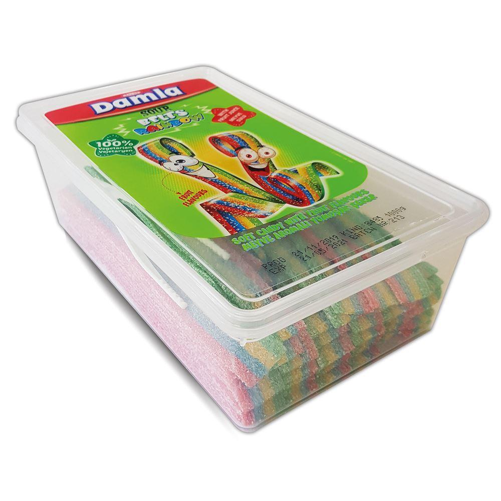DAMLA Sour Belts Licorice Rainbow Pet Box (100 pcs)(1kg)