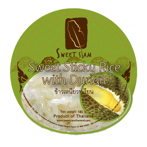Sweet Sticky Rice with Durian Sauce