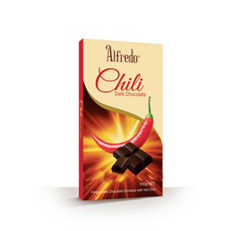 Alfredo Bar Chili Dark Chocolate 100g