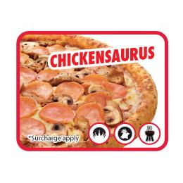 Chickensaurus pizza
