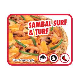 Pizza Sambal Surf & Turf