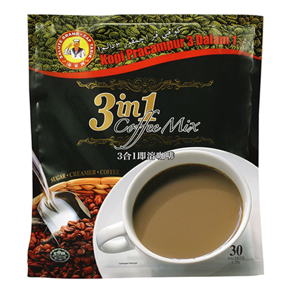 3 in 1 Coffee Mix (Soluble instant coffee with non-dairy creamer and sugar)