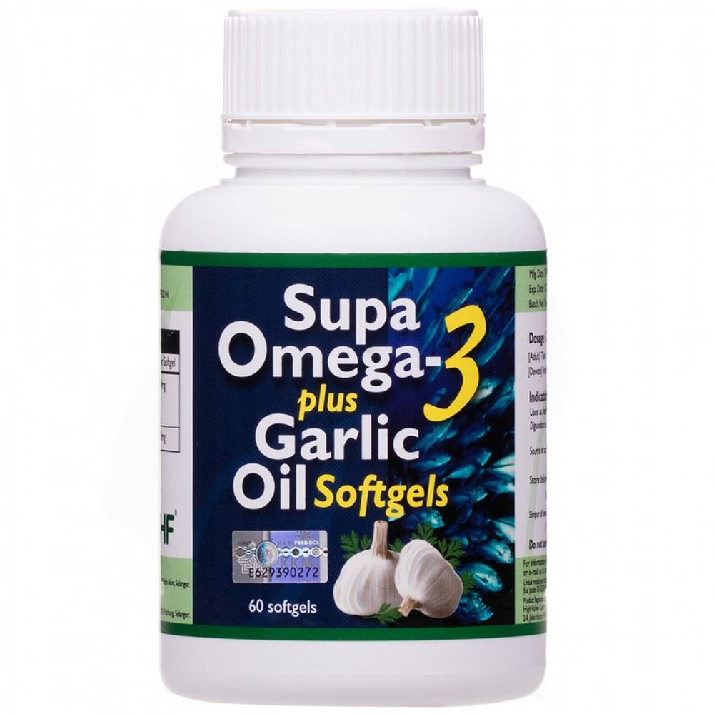Supa Omega-3 Plus Garlic Oil
