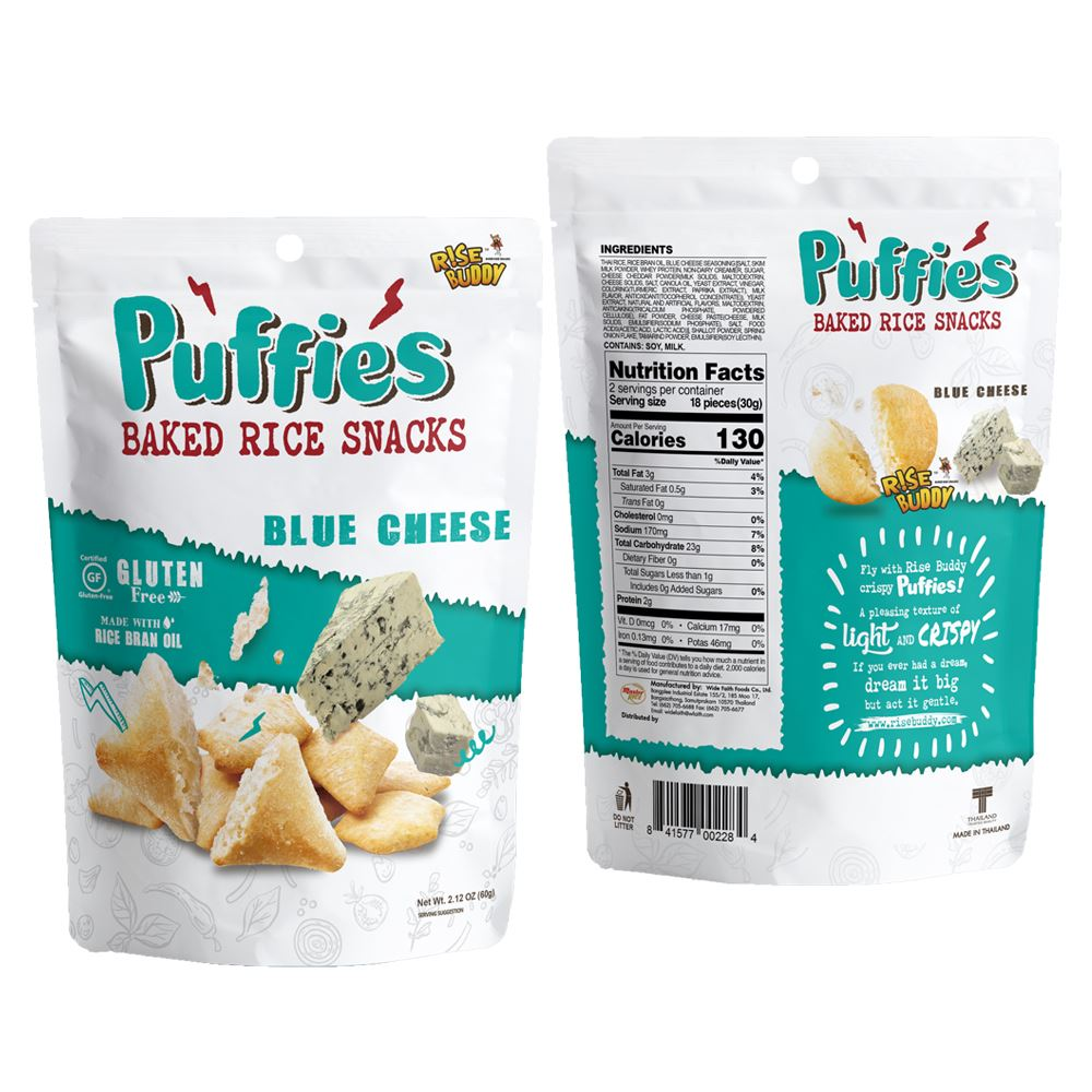 Rise Buddy Rice Puffies 60g - Blue Cheese Flavor