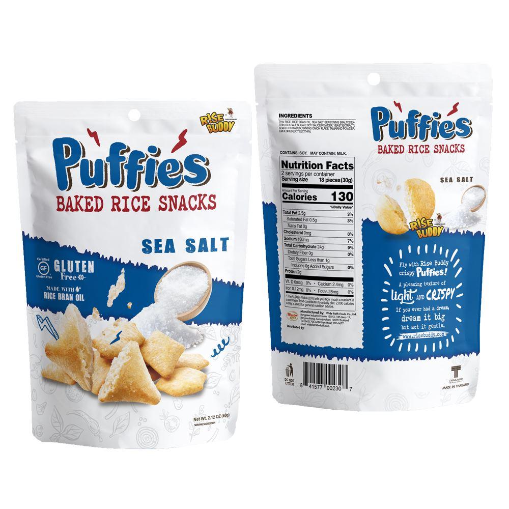 Rise Buddy Rice Puffies 60g - Sea Salt Flavor