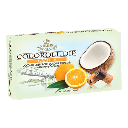 Coconut Crispy Rolls Coco Dip with Orange Flavour