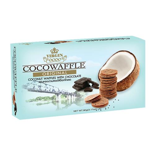 Coconut Waffle With Chocolate