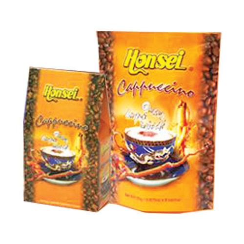 Honsei Cappuccino Ginseng, Lingzhi, Tongkat Ali