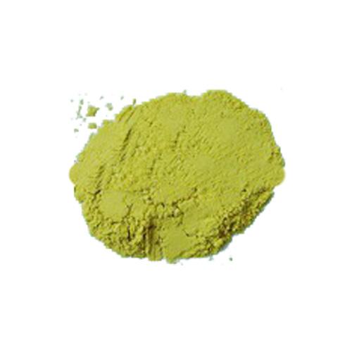 Bright yellow dehydrated pumpkin powder