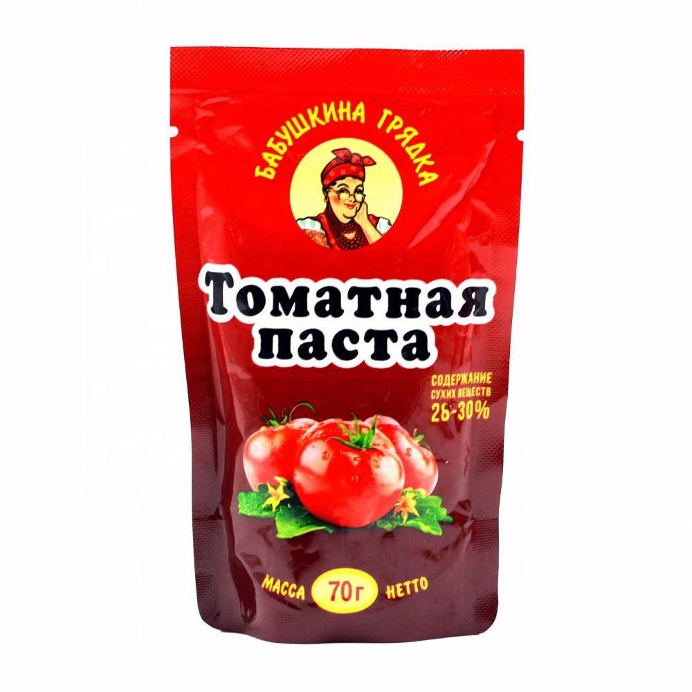 70g Stand up sachet tomato paste 70gx25x4/carton