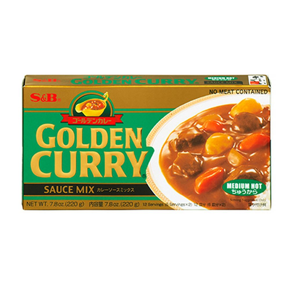 Golden Curry Sauce Mix Medium Hot 220g