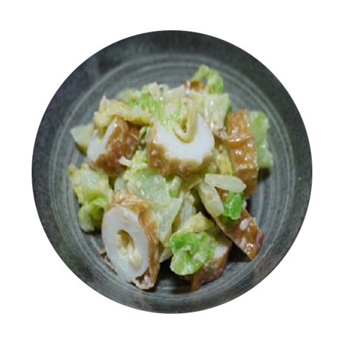 Special chikuwa and cabbage of miso flavor salad