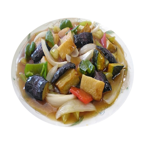 """The sweet and sour stir-fried with summer vegetables """"Kamiage and a half"""""""