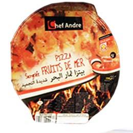 Pizza Surgelee Fruits De Mer 390s