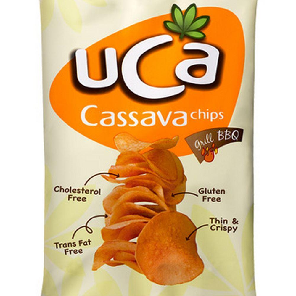 Cassava Chips Grill BBQ 120g