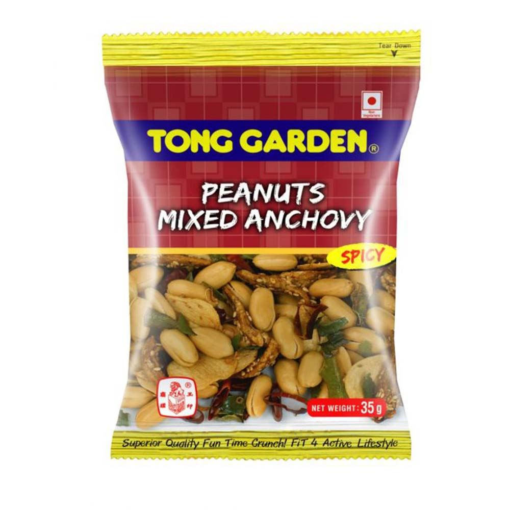 Tong Garden Spicy Peanuts Mixed Anchovy 30g