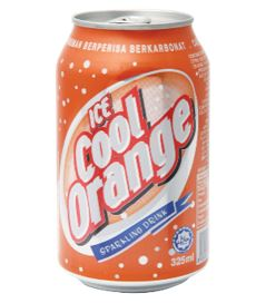 Ice Cool Carbonated Soft Drinks (Orange)