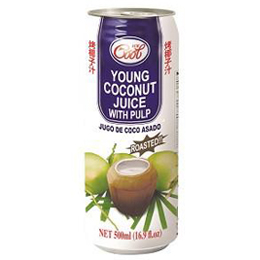Ice Cool Roasted Young Coconut Juice with Pulp