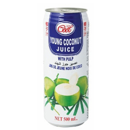 Ice Cool Young Coconut Juice with Pulp
