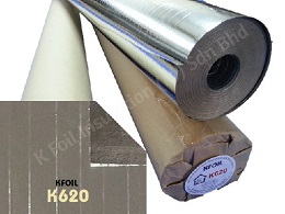 D/S Reflective Metalized Paper Film, Polyester Yarn Reinforced