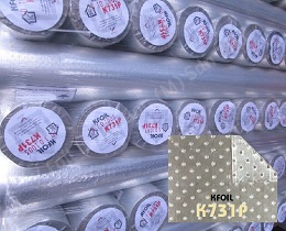 D/S Perforated Reflective Aluminium Paper Foil, 8x8 Fiberglass Scrim Reinforced
