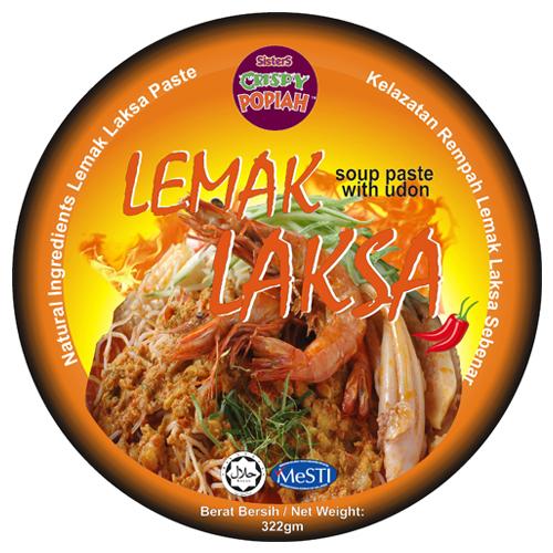 SISTERS CRISPY POPIAH Lemak Laksa Soup Paste with Udon