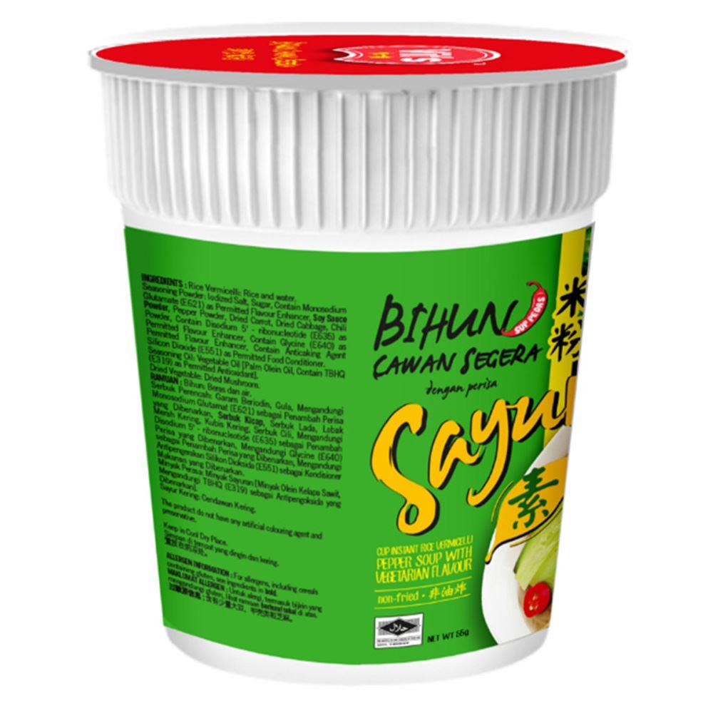 Vit's Instant Cup Vermicelli Noodle Pepper Soup with Vegetarian Flavour