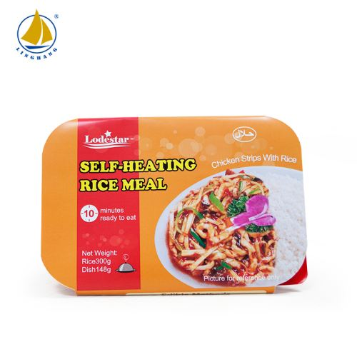 Self-heating Halal Rice Meal