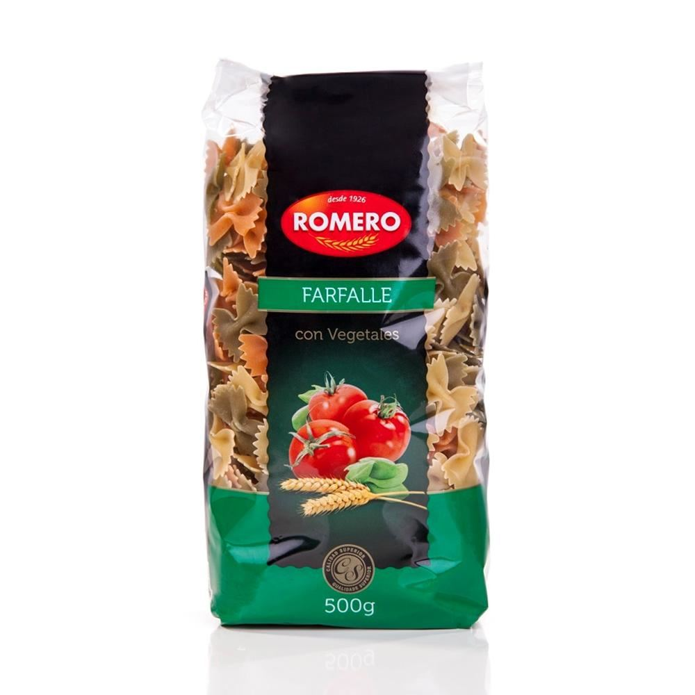 Romero Tri Color Pasta with Pure Spinach and Tomato