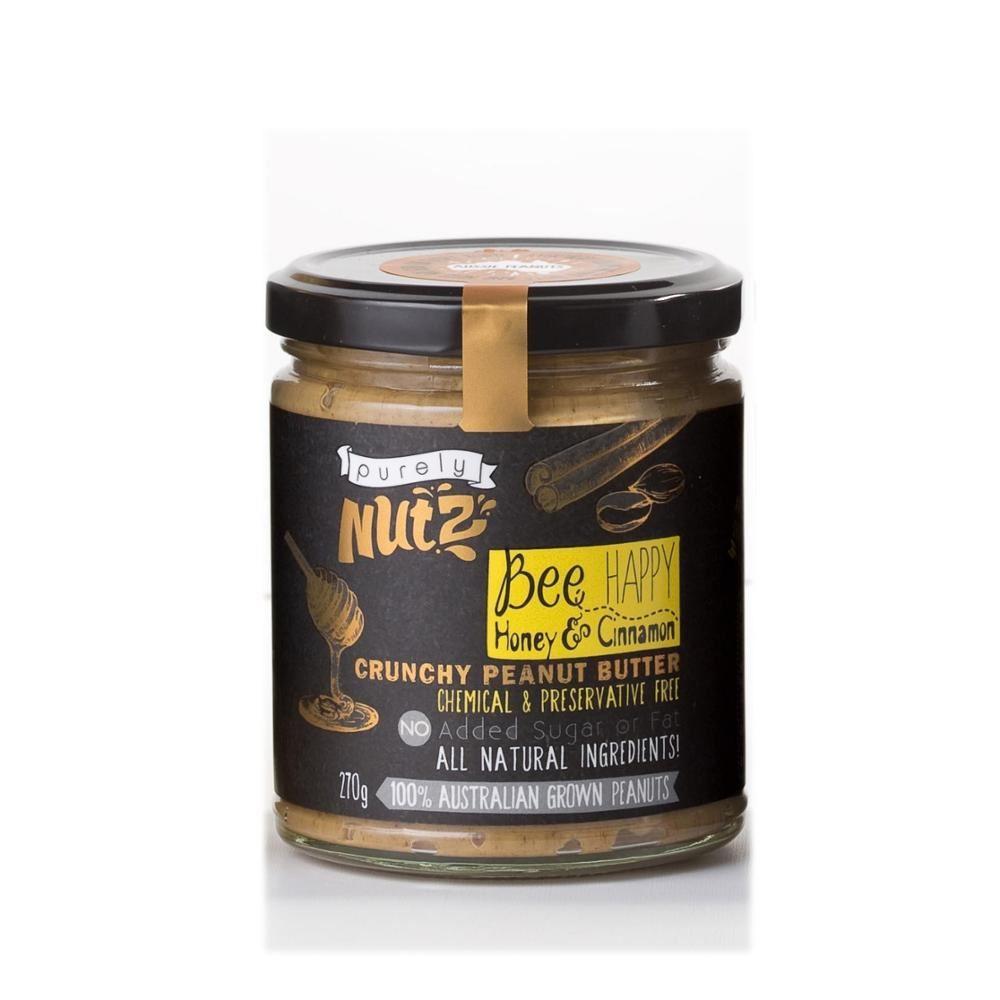 Honey and Cinnamon Peanut Butter 270g x 6 Australian Made