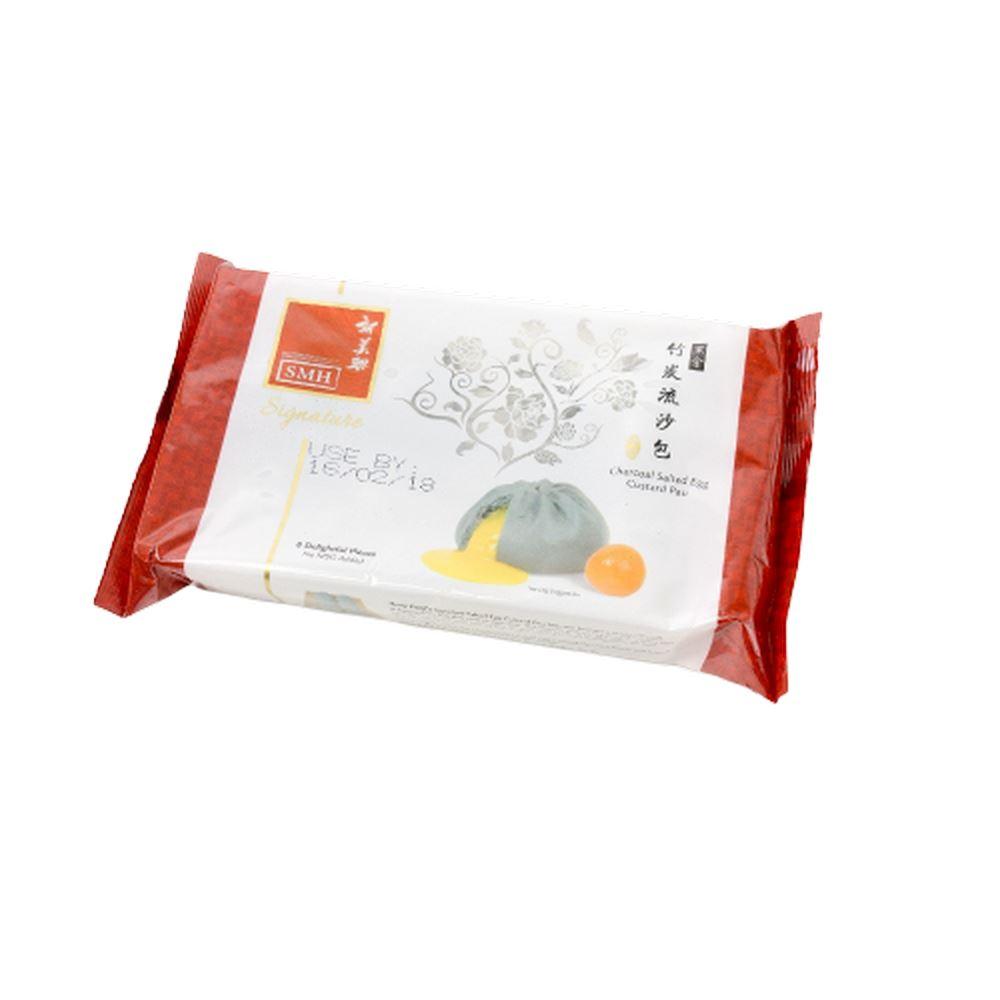 Wholesale Singapore Food SMH SIGNATURE Charcoal Salted Egg Custard Pau