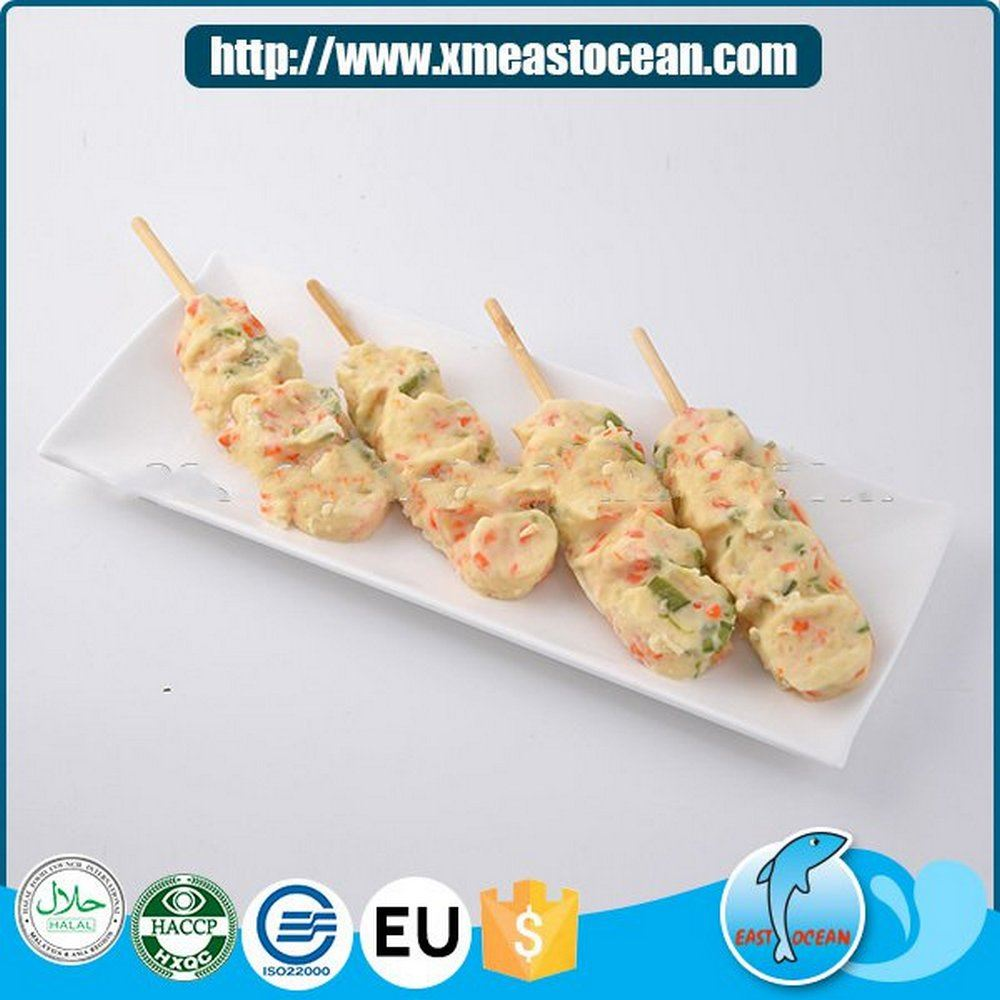 New products skewer food fried squid and vegetable cake frozen pies