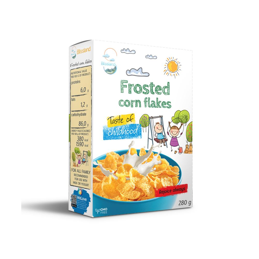Frosted corn flakes breakfast cereal
