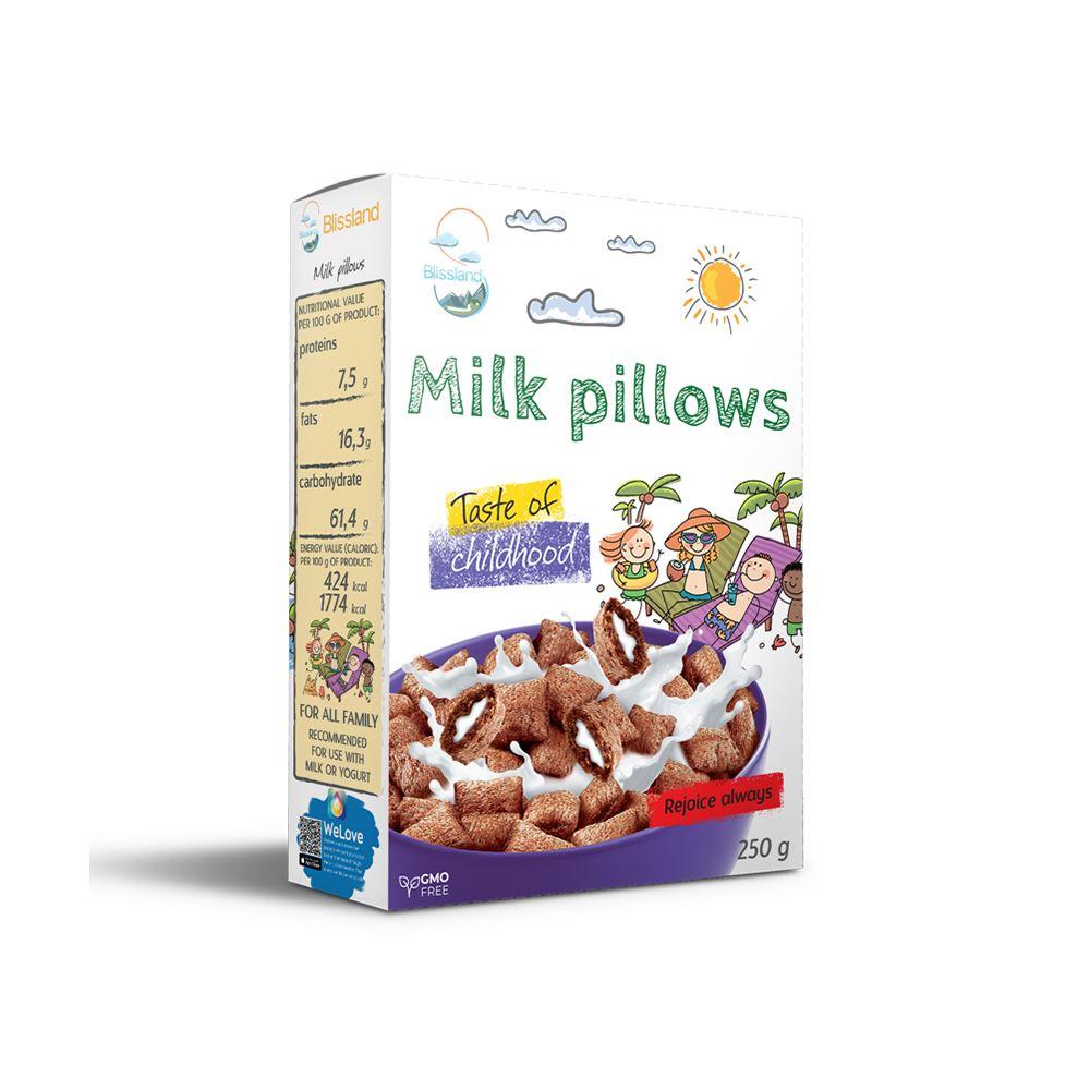 Milk pillows breakfast cereal