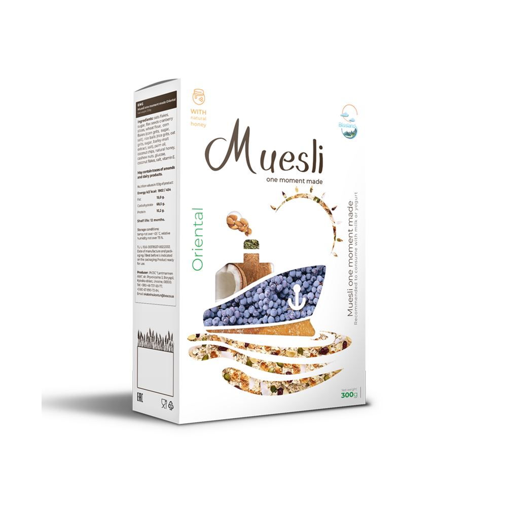 One-moment made muesli oriental breakfast cereal