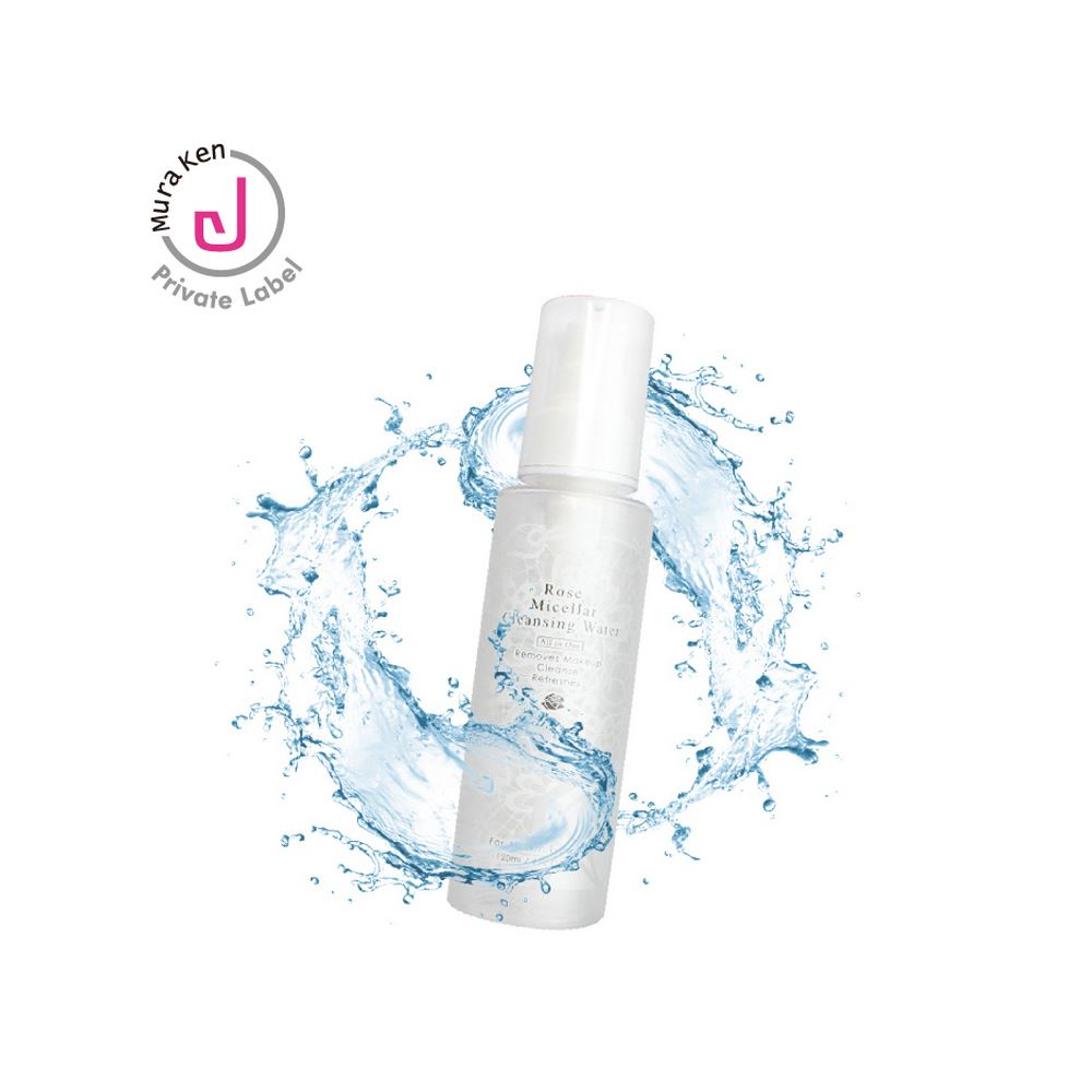 Private Label Rose Micellar Cleansing Water For Face