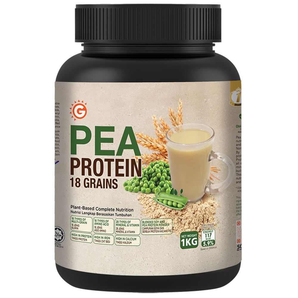 GoodMorning Pea Protein 18 Grains, Plant Based Complete Nutrition