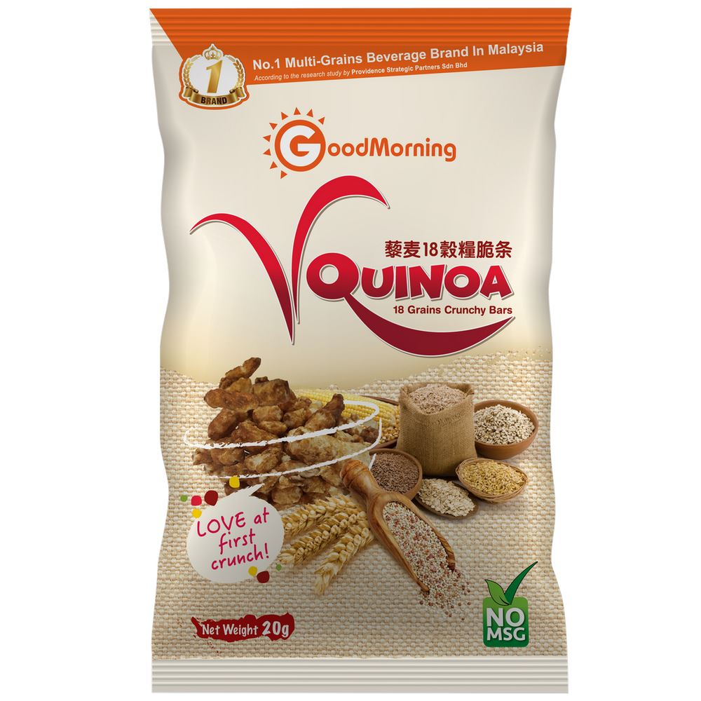 GoodMorning VQuinoa 18 Grains Crunchy Bars