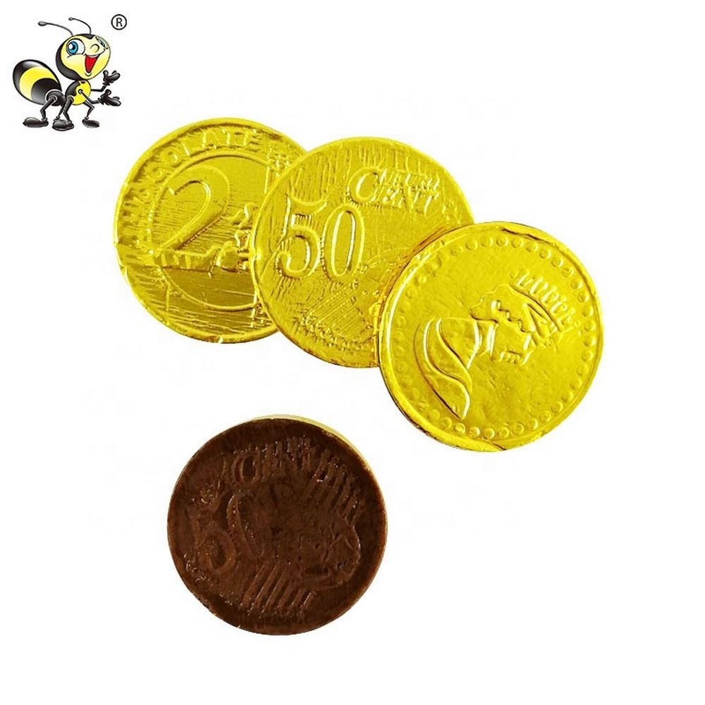 Delicate Bottle Filling Golden Coin Chocolate
