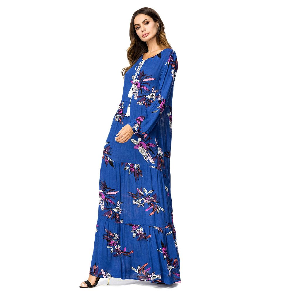 Blue Color Islamic Clothing Abaya