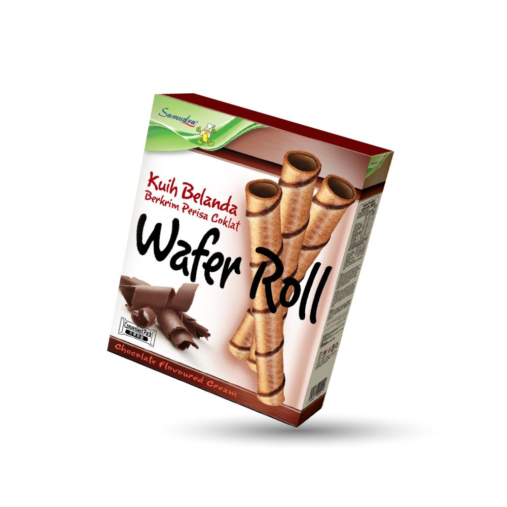 Wafer Roll (Chocolate Flavoured Cream) (90G x 24Boxes)