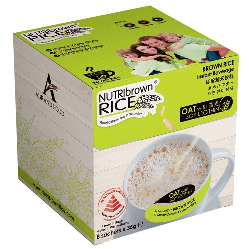 Instant Brown Rice Drink Beverage Oat with Soy Lecithin Flavor