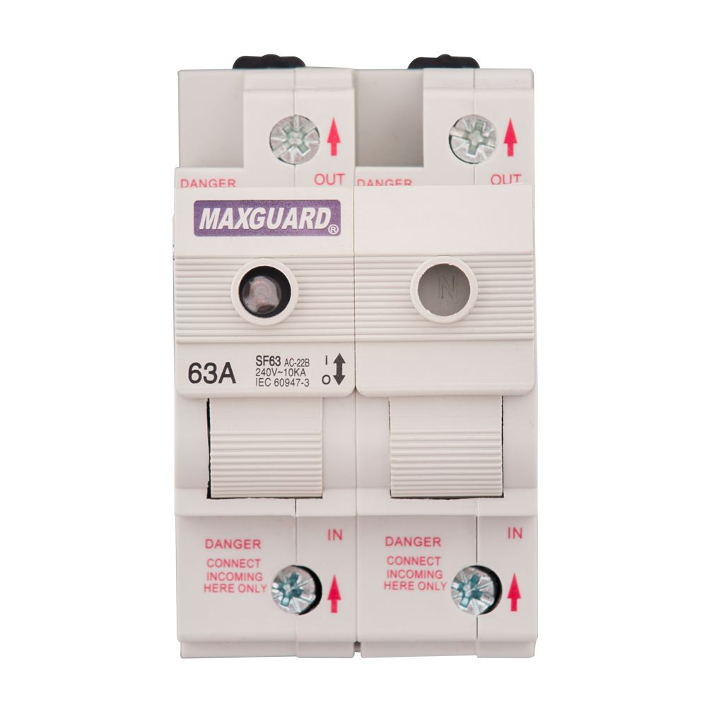 Switchfuses (SF series) 1Pole + N (63A)