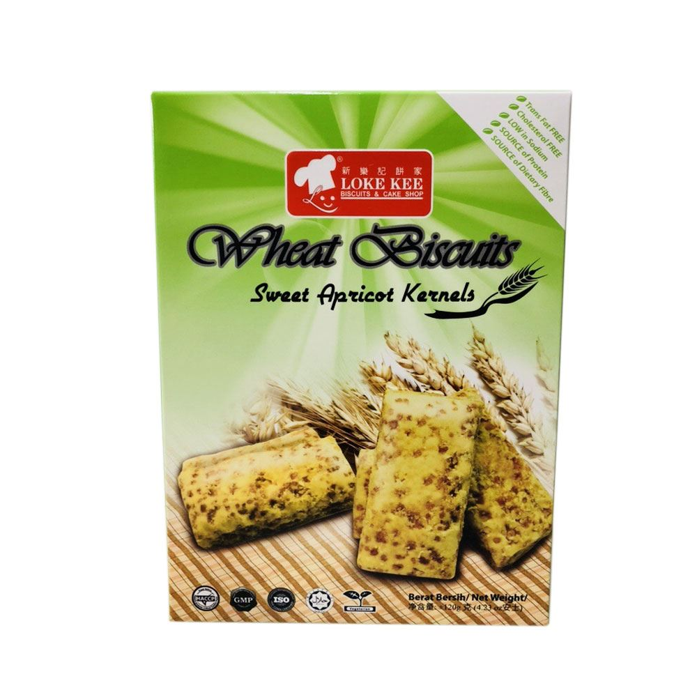 Wheat Fiber Biscuits (Sweet Apricot Kernels)