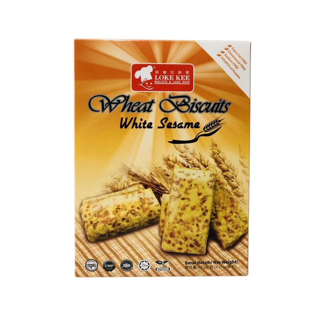 Wheat Fiber Biscuits (White Sesame)