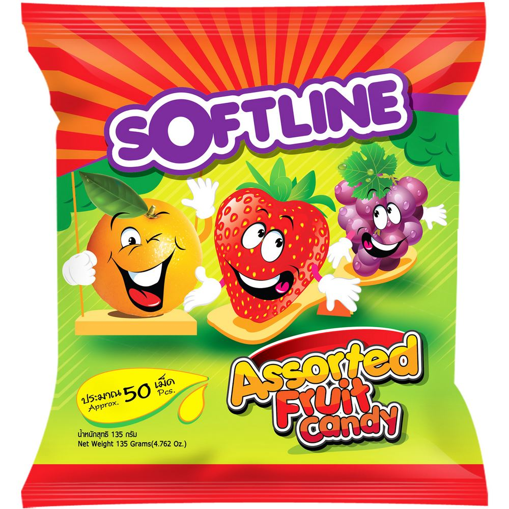 Softline Assorted Fruit Candy
